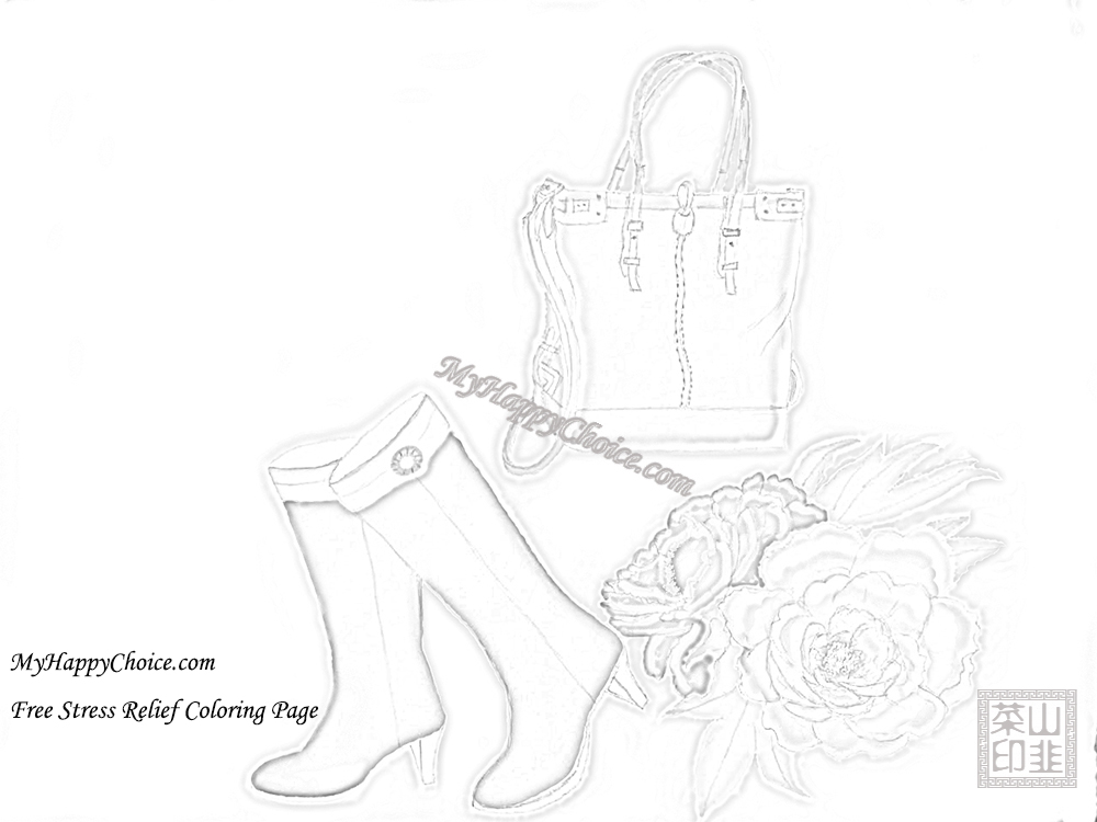 Purse with Checkered Pattern Coloring Page | Coloring pages ... | 750x1000